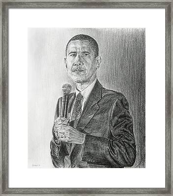 Obama 3 Framed Print
