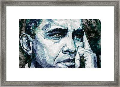 Obama 6 Framed Print by Laur Iduc