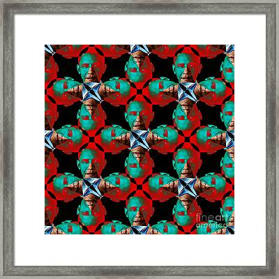 Obama Abstract 20130202p0 Framed Print by Wingsdomain Art and Photography