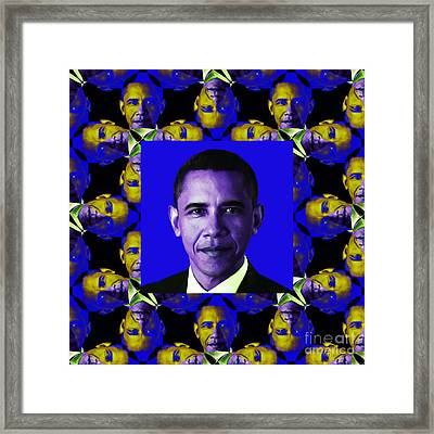 Obama Abstract Window 20130202m118 Framed Print by Wingsdomain Art and Photography