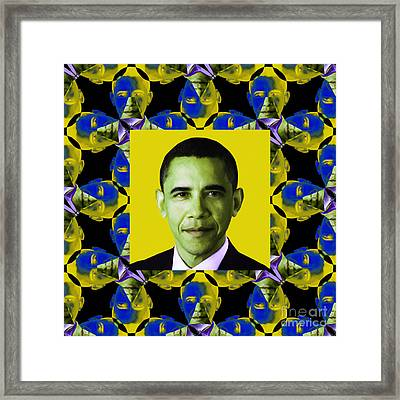 Obama Abstract Window 20130202p55 Framed Print by Wingsdomain Art and Photography