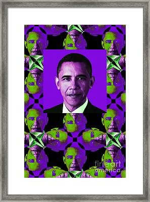 Obama Abstract Window 20130202verticalm88 Framed Print by Wingsdomain Art and Photography