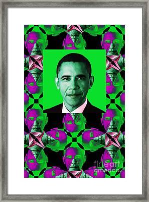 Obama Abstract Window 20130202verticalp128 Framed Print