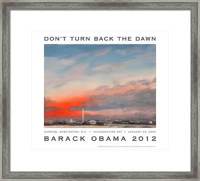Obama Campaign Poster 2012 Framed Print