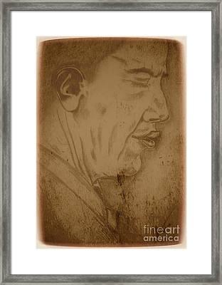 Obama Framed Print by Collin A Clarke