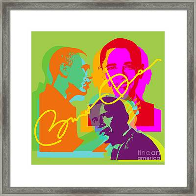 Obama Framed Print by Jean luc Comperat