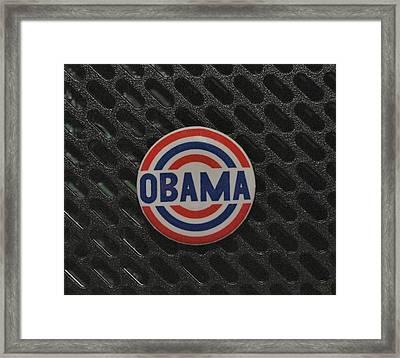 Obama Framed Print by Rob Hans