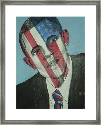 Obama Framed Print by Stanley Clark