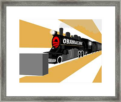 Obamacare Framed Print by Daniel  Montesinos