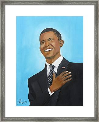 Obama's First Inauguration Framed Print by Artistic Indian Nurse