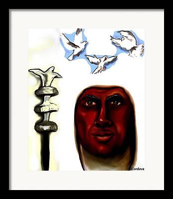 Santeria Saint Framed Prints