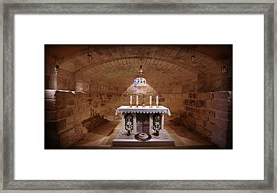 Obedience - The Church Of Saint Joseph's Carpentry Framed Print