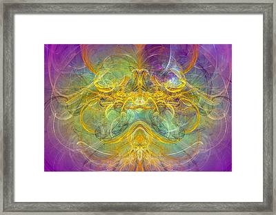 Obeisance To Nature - Spiritual Abstract Art Framed Print