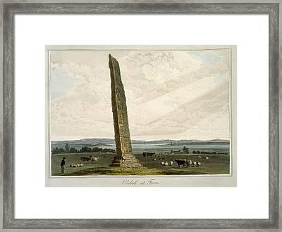 Obelisk At Forres, From A Voyage Around Framed Print