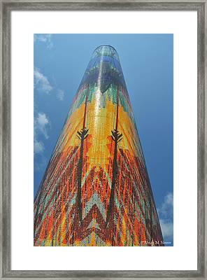 Obelisk Reaching To The Sky Framed Print by Wendy Hansen-Penman