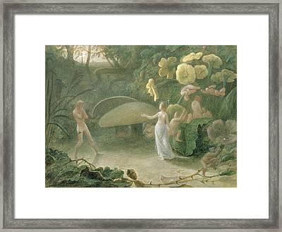 Oberon And Titania, A Midsummer Nights Dream, Act II, Scene I, By William Shakespeare 1566-1616 Framed Print