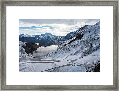 Obers Ischmeer Glacier Framed Print by Dr Juerg Alean