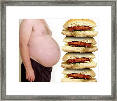 Obesity And Junk Food Framed Print by Victor De Schwanberg