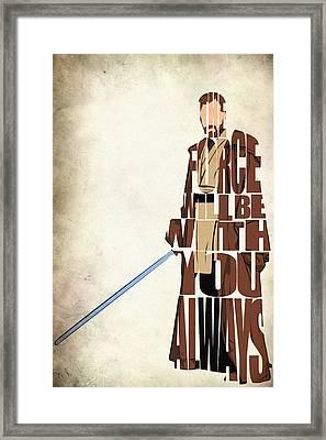 Obi-wan Kenobi - Ewan Mcgregor Framed Print by Ayse Deniz