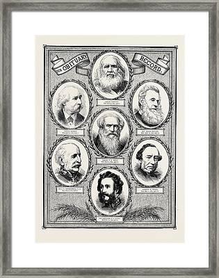 Obituary Record Samuel Bamford, Died April 13, 1872, Aged Framed Print
