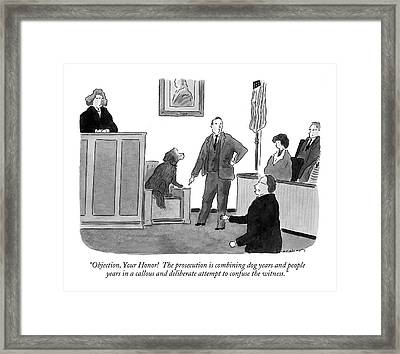 Objection, Your Honor!  The Prosecution Framed Print