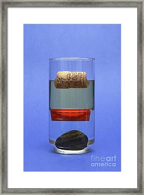 Objects And Liquids Of Different Framed Print by GIPhotoStock