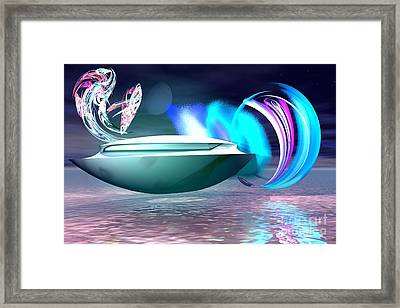 Framed Print featuring the digital art Objects Of Light by Jacqueline Lloyd
