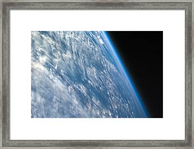 Oblique Shot Of Earth Framed Print by Adam Romanowicz