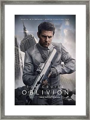 Oblivion Tom Cruise Framed Print