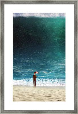 Oblivious Framed Print by Cynthia Decker