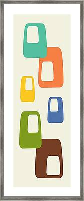 Framed Print featuring the digital art Oblongs by Donna Mibus