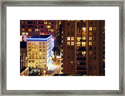 Framed Print featuring the photograph Observation - Man In Window Dclxxxi by Amyn Nasser
