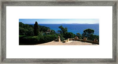Observation Point At The Sea Shore Framed Print by Panoramic Images