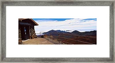 Observation Point With Volcanic Crater Framed Print by Panoramic Images