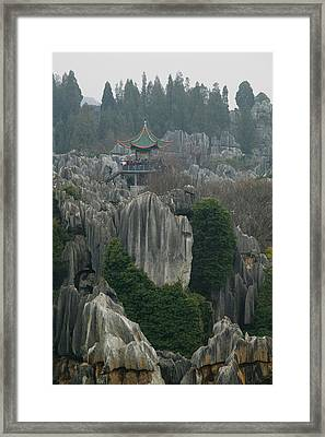Observation Tower On Limestone Framed Print by Panoramic Images