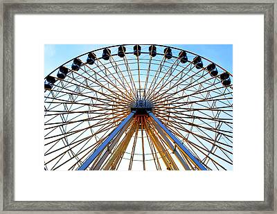 Observation Wheel Framed Print by Mary Beth Landis