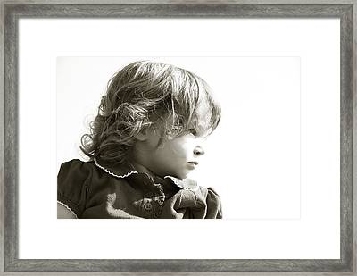 Observations Of A Child Framed Print by Charles Beeler