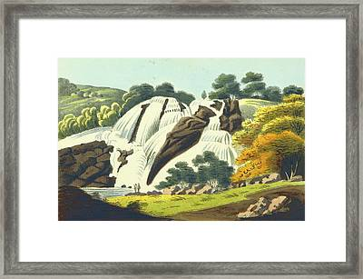 Observations On The Neilgherries, Falls Of The Cauvery Framed Print by Litz Collection