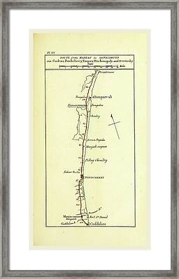 Observations On The Neilgherries, Map Of The Route Framed Print by Litz Collection