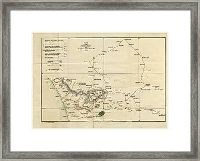 Observations On The Neilgherries, Neelgiries Map Framed Print by Litz Collection