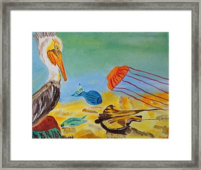 Framed Print featuring the painting Observing Options by Meryl Goudey