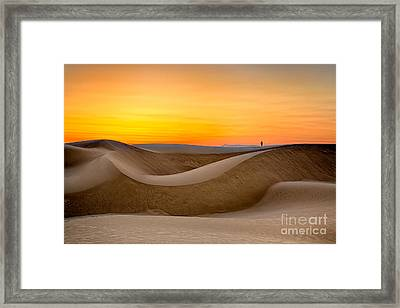 Observing Sunset At The Oceano Dunes Framed Print