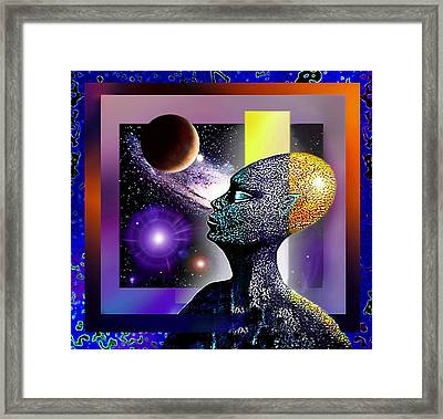 Framed Print featuring the mixed media Observing The Cosmos by Hartmut Jager