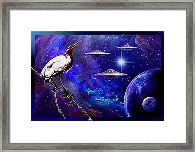 Observing The Majesty Of The Universe. Framed Print