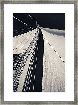 Obsession Sails 2 Black And White Framed Print by Scott Campbell