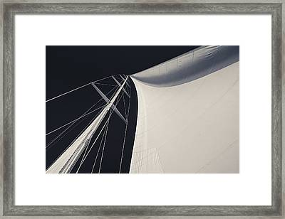 Obsession Sails 3 Black And White Framed Print by Scott Campbell
