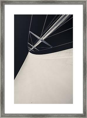 Obsession Sails 4 Black And White Framed Print