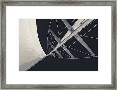 Obsession Sails 7 Black And White Framed Print by Scott Campbell