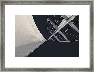 Obsession Sails 8 Black And White Framed Print by Scott Campbell