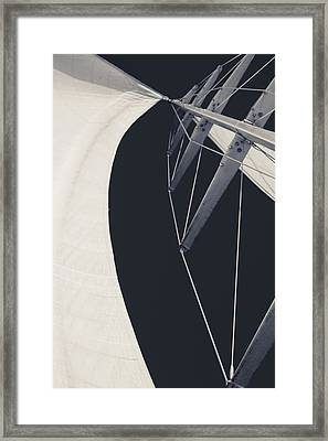 Obsession Sails 9 Black And White Framed Print